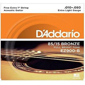 Encordoamento Daddario Violao EZ900-B+PL010 010 Bronze 85/15