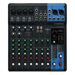 Mesa de Som Analógica Yamaha MG10XU com Efeito e Porta USB