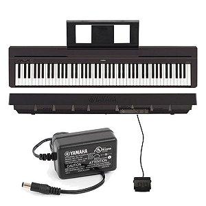 Piano Digital Yamaha Portatil P45 PRETO