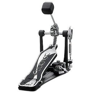 Pedal de Bumbo Odery Fluence P-802FL Simples com Corrente Dupla