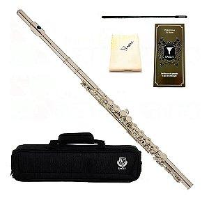 Flauta Transversal Eagle FL03S Prateada Mecanismo Mi