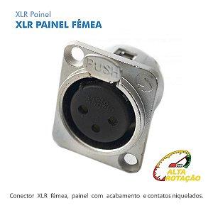 XLR Santo Angelo Femea Painel P3FNN01 Embutir