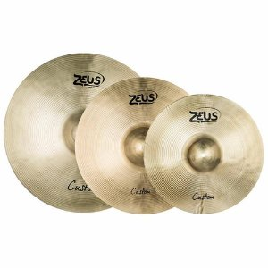 "Kit de Pratos Zeus Custom Set C em Liga B20 / Hi-Hat 14"" / Crash 16"" / Ride 20"""