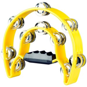 Pandeiro Meia Lua Premium TB-10 Amarelo