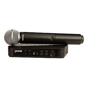 Microfone Shure s/ Fio BLX24BR/SM58-J10 Mao