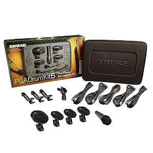 Kit de Microfone Shure PGADRUMKIT5 pra Bateria / 5 peças
