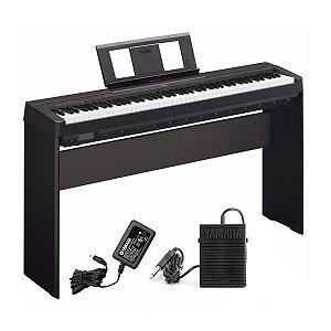 Piano Digital Yamaha Portatil P45 B + estante L85