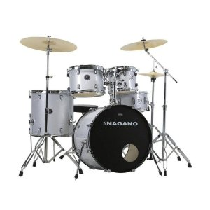 Bateria Nagano Garage Rock 22 / Grey Sparkle / Completa