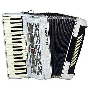 Acordeon Cadenza CD80/37 / 80 Baixos / Branco / Acompanha case