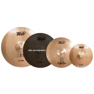 "Kit de Pratos Zeus Evolution Set C em Liga B10 / Hi-Hat 14"" / Crash 16"" / Ride 20"""