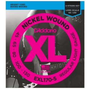 Encordoamento D'Addario EXL 170-5 045 para Contrabaixo 5 cordas