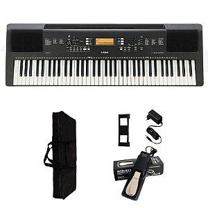 Teclado Yamaha PSR EW300 6/8 + Fonte + Capa + pedal