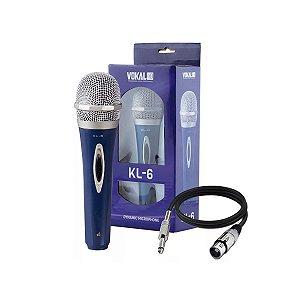 Microfone Vokal KL-6 / Com Fio / Cardioide