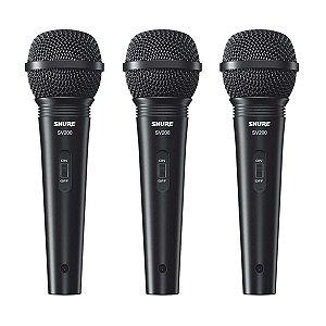Microfone Shure SV200 - 3 Unidades