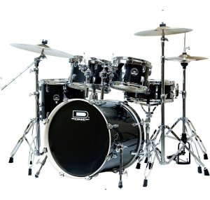 Kit Bateria D One DS22BK Preta + Pratos Zeus Beginner