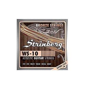 Encordoamento Strinberg Violao Aco WS-10 010
