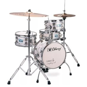 Bateria Odery CAFE KIT WM White Mist Branca Rajada