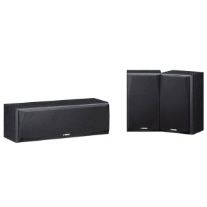 Kit Caixa Central Surround Yamaha NS-P51BL Preta