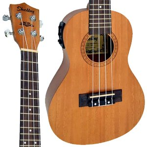 Ukulele Shelby SU23ME STNT Concert 23 Mogno Fosco Eletrico