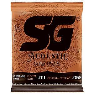 Encordoamento SG Violao Aco 011 SG6686 Bronze 85/15
