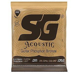 Encordoamento SG Violao Aco 011 SG6691 Fosforo-Bronze