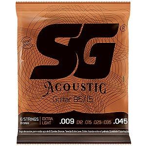 Encordoamento SG Violao Aco 009 SG6684 Bronze 85/15