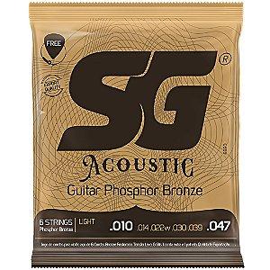 Encordoamento SG Violao Aco 010 SG6690 Fosforo-Bronze