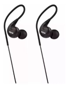 Fone Vokal E40 In Ear Preto Intrauricular