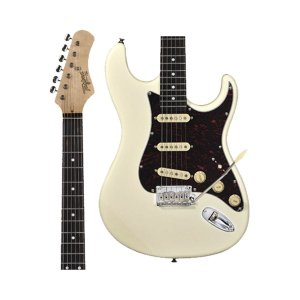 Guitarra Tagima T-635 Classic WV E/TT Branc Vintage c/ Escudo Shell