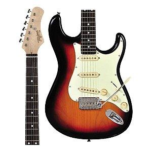 Guitarra Tagima Classic T-635 SB DF/MG Sunburst Escala Escura Escudo Claro