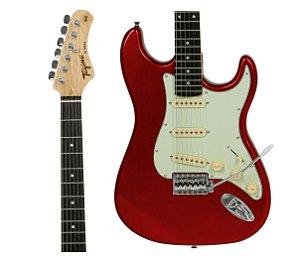 Guitarra Tagima Tg500 Vermelho Woodstock Strato Candy Apple