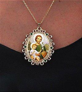 Kit São José (terço e medalhão) - Veja descrição completa abaixo