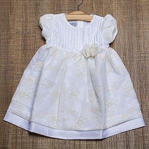 VESTIDO INFANTIL EM TAFETÁ E RENDA SHANTUM OFF WHITE - CRIAÇÕES PÓSSUM