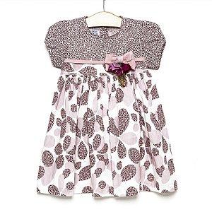 Vestido bebê animal print - Criações Póssum