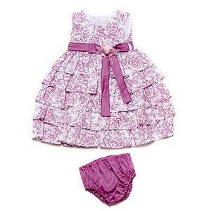 Vestido bebê babados - Bella Bambina