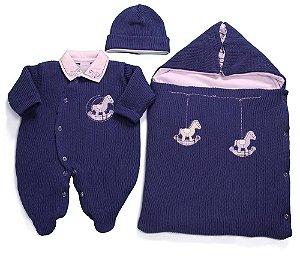Kit saída de maternidade masculina cavalinho - Zumm Caramello