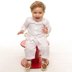 Conjunto social bebê branco com gravata borboleta - Bumabei