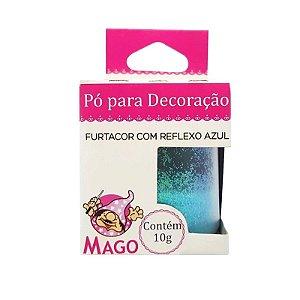 GLITTER PÓ COLORIDO FURTACOR COM REFLEXO AZUL MAGO