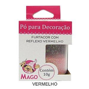 GLITTER PÓ FURTACOR COM REFLEXO VERMELHO MAGO