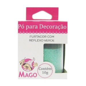 GLITTER PÓ COLORIDO FURTACOR COM REFLEXO VERDE MAGO