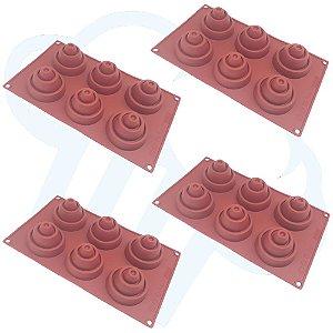 Kit 4 Formas De Silicone Babel Doces Finos Chocolate