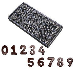 Forma Molde Números Para Chocolate
