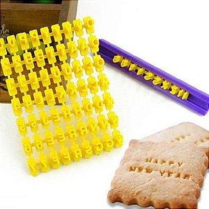 Carimbo Mini Marcador Numero Letra Pasta Americana Biscoito