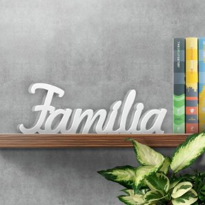 Palavra Decorativa Família