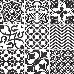Adesivo Azulejo Preto e Branco