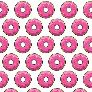 Papel de Parede Adesivo Sugar Donuts