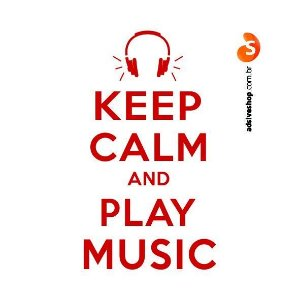 "Adesivo ""Keep Calm and Play Music"""