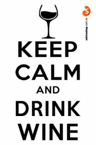 "Adesivo ""Keep Calm and Drink Wine"""