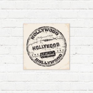 "Placa Decorativa ""Hollywood"""