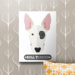 Placa Decorativa Bull Terrier